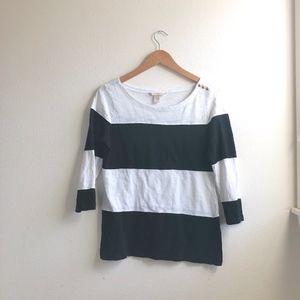Banana Republic striped blouse sz:S career cotton
